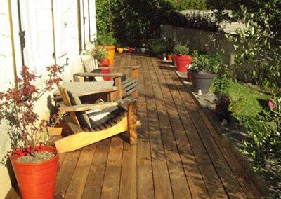 Création d'une terrasse en pin 2016