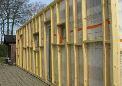 Ossature bois façade avant