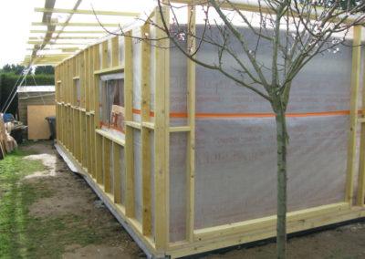 Ossature bois façade arrière